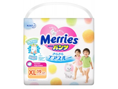 Трусики Merries XL (12-22 кг) 19 шт.